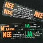 nee/nee-stickers en nee/ja-stickers