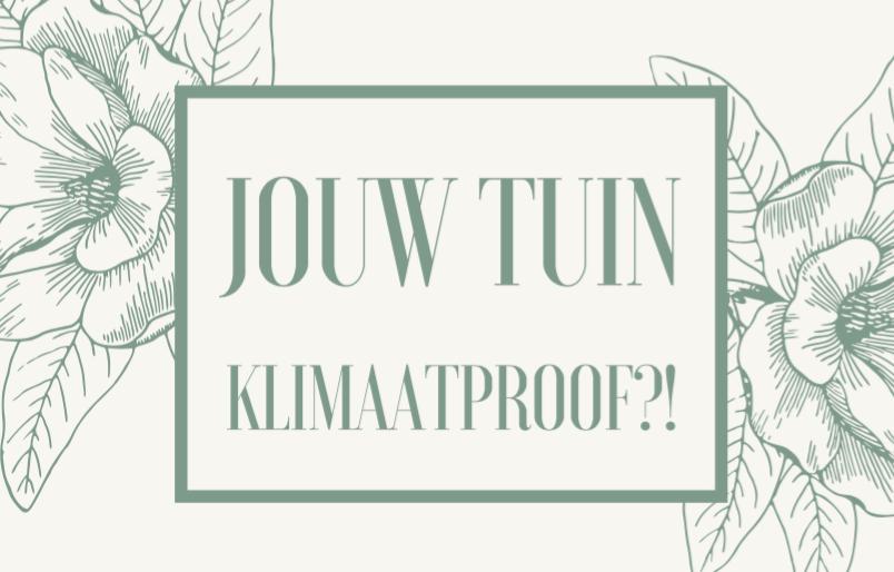 Jouw Tuin klimaatproof